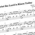 Christ the Lord is Risen Today piano